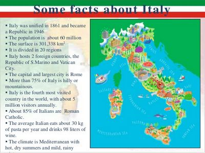 Italy Facts For Kids About And Italians
